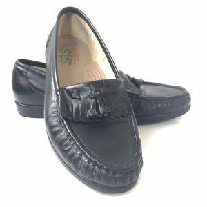 SAS Black Tassle Fringe Tripad Comfort Loafers